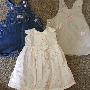 0-3 month baby girl dress lot